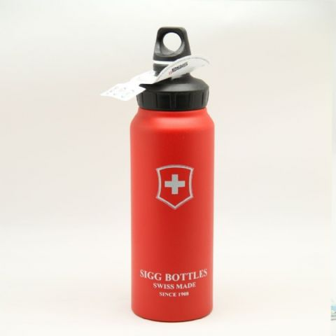 Sigg Wide Mouth Bottle Swiss Emblem Red